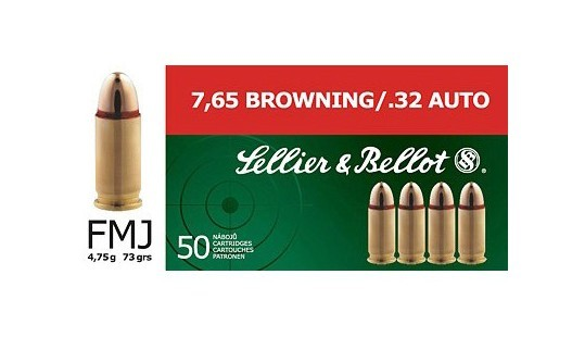Sellier & Bellot, 7,65, Browning, Vollmantel